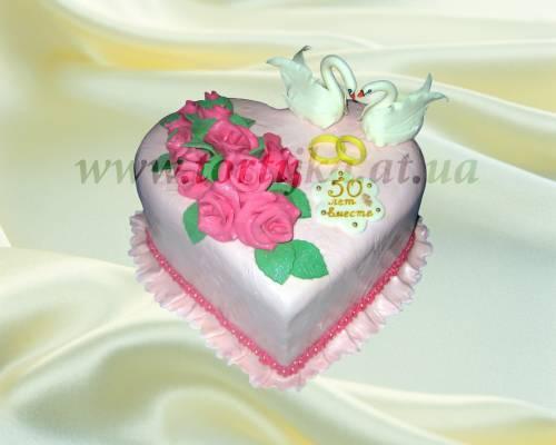 Картинки тортов к юбилею свадьбы из крема