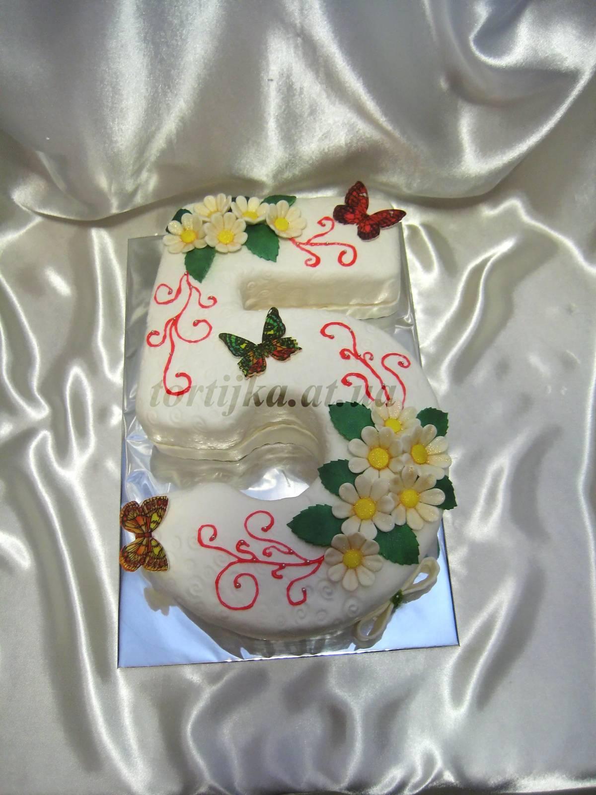 Торт на пять лет девочке своими руками 40