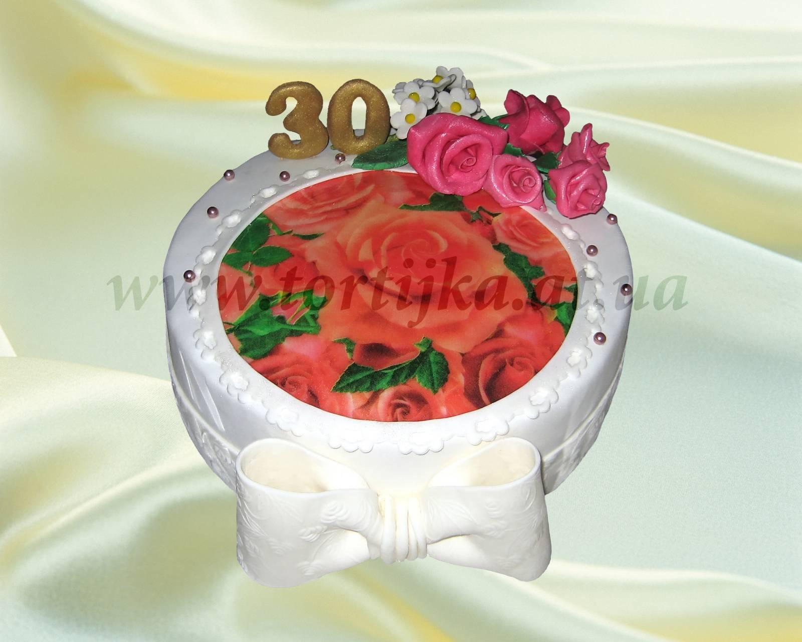 Торт на 30 летие праздничные