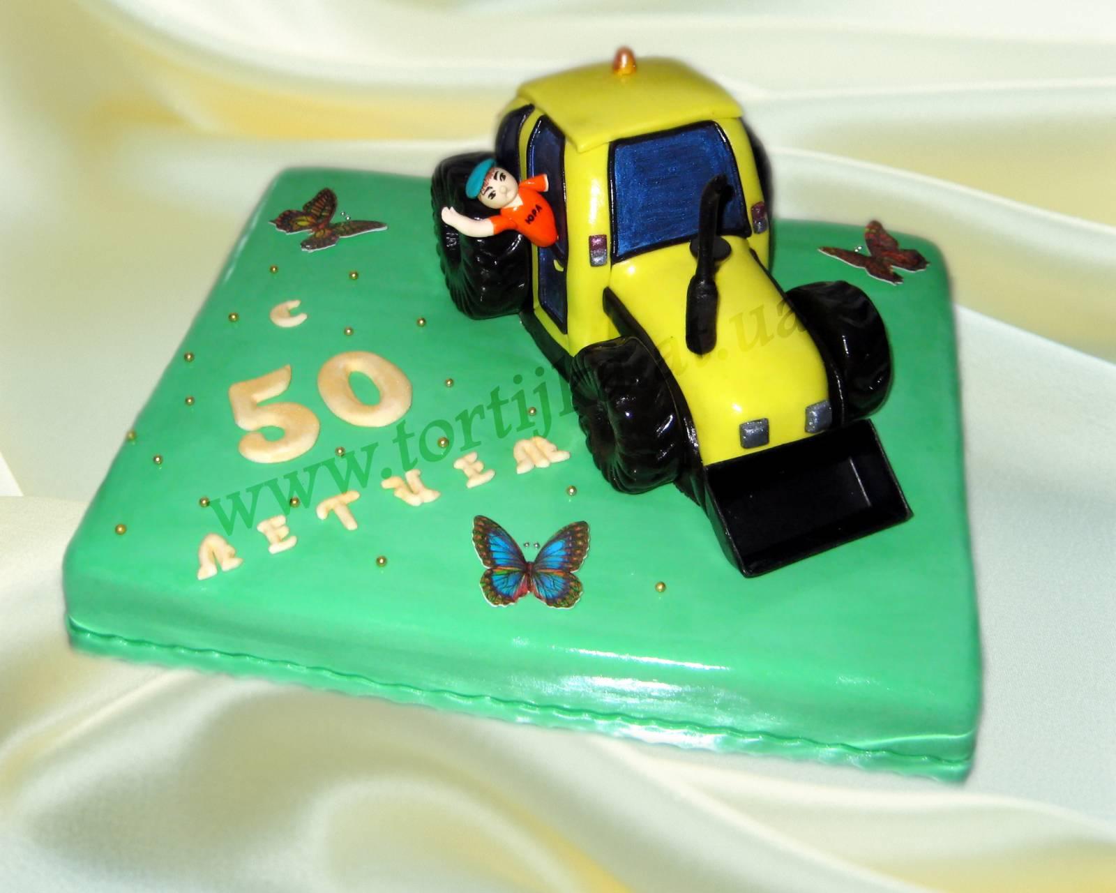 3 D торт Трактор. Как сделать 3D торт для мальчика 75