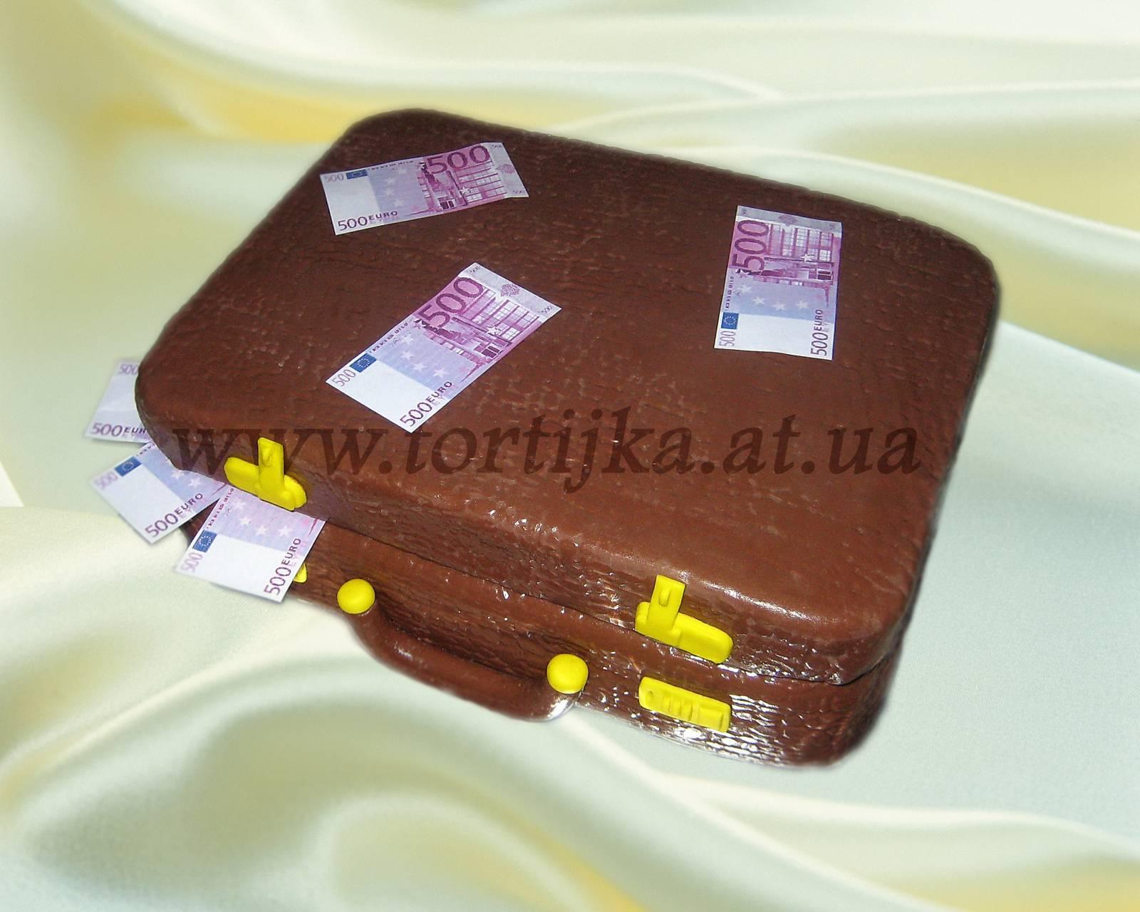 Торт чемодан с деньгами пошагово